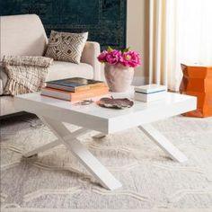 Safavieh Harrison Mid Century Scandinavian White Coffee Table-FOX4239A - The Home Depot