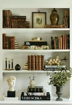 41 Creative Decorating Built In Shelves 99 Home Decor Shelf Styling Cheetah is the New Black 3 bookshelf decor decorating built in shelves Styling Bookshelves, Decorating Bookshelves, Bookshelf Design, Bookshelf Ideas, Book Shelves, Corner Shelves, Wall Shelves, Office Bookshelves, Arranging Bookshelves