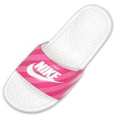 Nike Quotes for Women | Women's Nike Benassi JDI Swoosh Slide Sandals | FinishLine.com | Light ...
