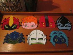 Ben 10 birthday party - felt masks