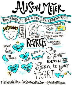Graphic Recording: TEDxBerkeley 2015 - Alison Meyer by Melinda Walker ~ www.OneSquigglyLine.com