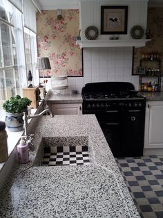 Blauwe keuken k i t c h e n s pinterest garden inspiration country houses and kitchens - Redo keuken houten ...