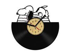 Vinyl Record Clock - Snoopy. by TheVinylClocks on Etsy https://www.etsy.com/listing/209970153/vinyl-record-clock-snoopy
