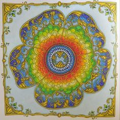 Secret Garden Coloring Book, Johanna Basford Coloring Book, Coloring Books, Colouring, Mandala Coloring Pages, Neon Colors, Colorful Flowers, Favorite Color, Tapestry