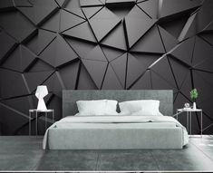 Modern 8d Abstract Gray Wall paper Mural 3D Triangle Wallpaper sticker paper For Living room Sofa Background Wall Murals Deco  Price: 76.80 & FREE Shipping  #Necklace #Bracelets #Pendants #Brooches