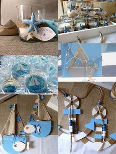 Try These Easy Decorating Tips When Working with Candles Unique Candle Holders, Unique Candles, Baby Baptism, Christening, Summer Crafts, Diy And Crafts, Sailor Baby Showers, Sailor Theme, Baptism Favors