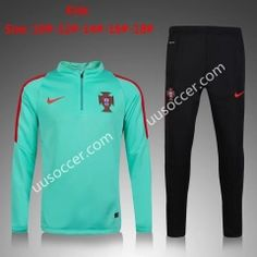 2016 European Cup Portugal Green Kids/Youth Soccer Tracksuit