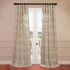 Filigree Ivory 50 X 108 Inch Flocked Curtain Half Price Drapes Drapery Sets Window Treatme