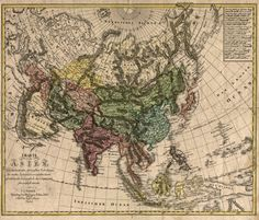 old+world+map+of+central+asia | Asia 1805 map, China, India, Japan, South East Asia, Russia,