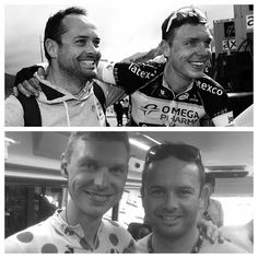 Would have loved to share another great moment with him. Der Tony in yellow! Super happy for this guy! Big congrats to the @etixx_quick_step staff in Le Tour.