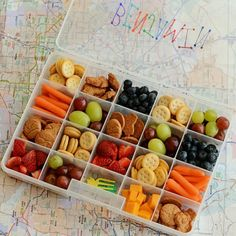 Easy & fun road trip snack boxes make long trips in the car enjoyable and yummy for kids. And no more stopping for convenience store snacks!