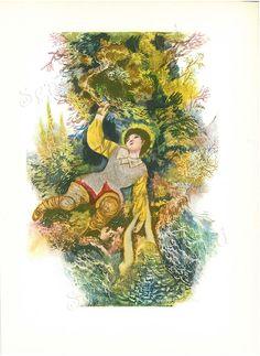 The Nix of the Mill Pond 1960s Fairy Tale by Jiri Trnka SeagullIsland on Etsy, $8.00