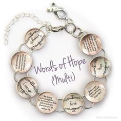 Words of Hope Scripture Glass Charm Bible Verse by ScriptCharms Hope Scripture, Bible Verses, Encouragement Scripture, Bible Art, Bible Quotes, Christian Bracelets, Christian Jewelry, More Precious Than Rubies, Words Of Hope