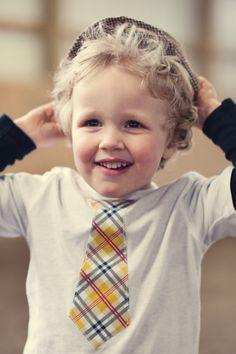 Little Man Tie Shirt plaid on white tshirt size 4t by RugratDesign, $14.00