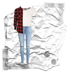 """""""Sin título #51"""" by nicole-wu03 ❤ liked on Polyvore featuring H&M, Topshop, Converse, relax, flannel, whiteconverse and lowtopconverse"""