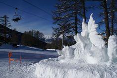 Sculpture sur #neige - #lesorres - by Philippe Minier - crédit photo Alice Simonard