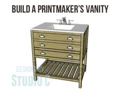 a beautiful vanity in a printmaker style diy plans to build a vanity i am adding a new plan category to the plan catalog for vanities