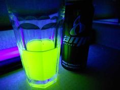 Monster drinks glow in the dark!