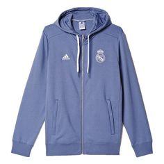 adidas Men s Real Madrid 3 Stripe Zip Hoodie Super Purple Real Madrid  Soccer 01f26e2f0777d