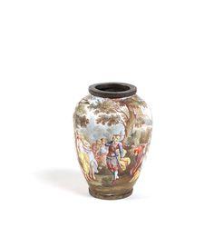 A Viennese bronze and enamel vase - Wien 1870 Lot 253