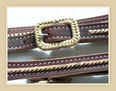Rawhide laced belt