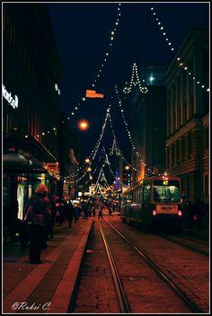 Tram in the night, Helsinki, Finland Copyright: Ruxandra Canarache