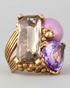 Stephen Dweck Three-Stone Ring, Purple on shopstyle.com