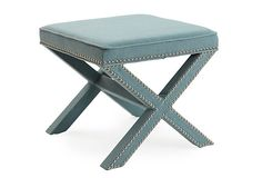 This one is a great color too....Palmer Ottoman, Robin's-Egg Blue on OneKingsLane.com