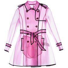 Transparent pink trenchcoat