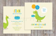 Uitnodiging dinosaurus (verjaardag,...)