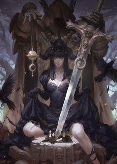 witch, KILART _ on ArtStation at https://www.artstation.com/artwork/witch-4ee7ccce-54ae-4720-b5f1-5b25fff72c98