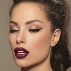 Plum lipstick …
