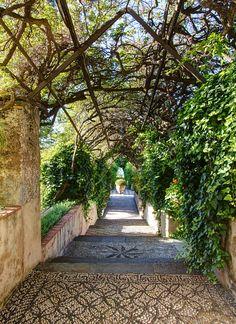 Garden of the San Domenico Palace Hotel in Taormina, Sicily