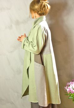 Terry-Macey 2014 SS - look at the elegance of that hemline! New Edy Jacket in patchwork linens £295.