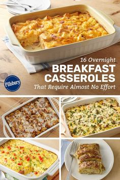 16 Overnight Breakfast Casseroles That Require Almost No Effort Entertaining overnight guests? Prep these make-ahead breakfasts before bed, and just pop them in the oven when you wake up for effortless hosting. Christmas Breakfast Casserole, Overnight Breakfast Casserole, Brunch Casserole, Christmas Morning Breakfast, Breakfast Bake, Breakfast Dishes, Breakfast Recipes, Casserole Recipes, Breakfast Ideas