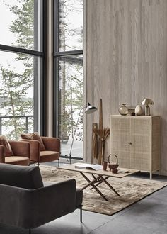 New home with a warm interior - via Coco Lapine Design blog