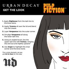 How to recreate Mrs. Mia Wallace's dark, edgy look. #Sephora #UrbanDecay #PulpFiction