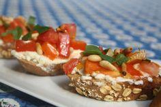 Ina Gartens Bountiful Tomato Feta Basil Bruschetta