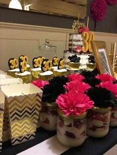 #gold #golden #30 #naked #cake #birthday #cake