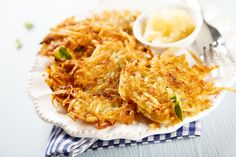 Make traditional potato pancakes one night, but then surprise the kids with dessert for dinner at your next Hanukkah candle-lighting.