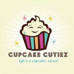 #Cupcake #logo #design for cupcake cutiez by wwwthelogoboutique.com