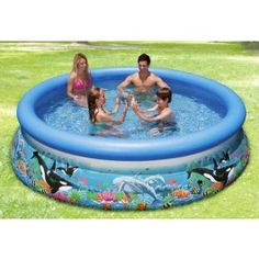 Bewährtes Einsteigermodell: 305 x 7 cm -ca.3854 Liter - Schwimmbecken mit Filterpumpe, Komplettset