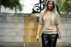 London Fashion Week Spring 2015 Day 2 - The Best of London Fashion Week Spring 2015 Street Style in Photos | W Magazine