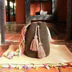 Wayuu Mochila Bag / Hand-Woven / Brown / Indigenous by CasaLunaCo
