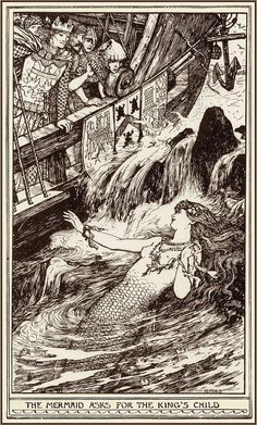 The Mermaid & the Boy ~ 1904 by H.J. Ford**