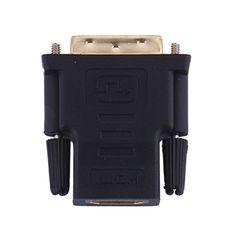 Neue dvi 24 + 1 stecker auf hdmi buchse konverter hdmi zu DVI adapter Unterstützung 1080 P für HDTV LCD DVI-D Vergoldet Adapter