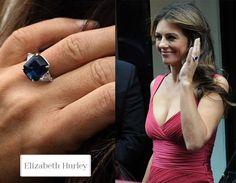 Elizabeth Hurler Square-cut sapphire engagement ring