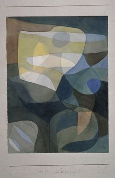 "hipinuff: "" Paul Klee (Swiss: 1879-1940), Lichtbreitung I, 1929. Watercolor on paper on cardboard """
