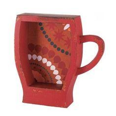 Red Coffee Cup Shelf