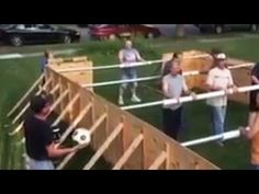 Human Foosball Table: See the Game That& All the Rage in Brownton, Minnesota Camping Games, Camping Crafts, Camping Life, Family Camping, Camping Ideas, Activity Games, Fun Games, Party Games, Life Size Games